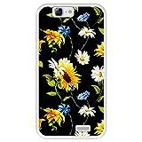 Funda Transparente para [ Huawei Ascend G7 ] diseño [ Patrón Floral, Flores Multicolores 2 ] Carcasa Silicona Flexible TPU