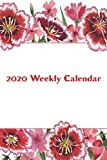 2020 Weekly Calendar: Watercolor Red Carnations