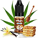 CBD E-liquido Vape 100mg con Terpenos Naturales de KDM Liquids® Sabor de Vanilla Honey Cake 10ml Vaper Líquido Cannabidiol para para Cigarrillo Electrónico Vepeador sin Nicotina & THC