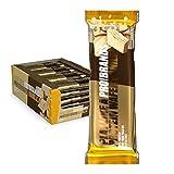 Probrands – Barrita de obleas con lado cubierto con cacao con alto contenido de proteínas (31%) con sabor de vainilla, sin aceite de palma, sin gluten 40gx26 unidades
