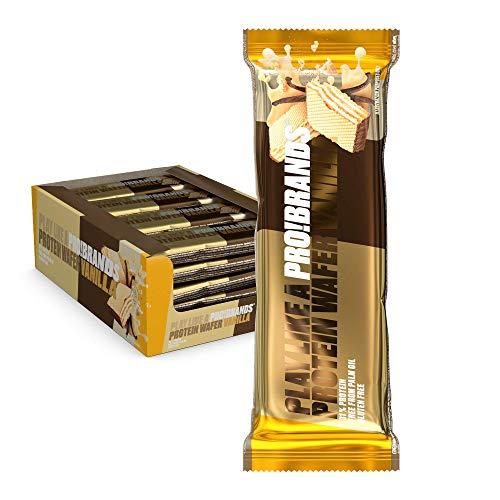 Probrands – Barrita de obleas con lado cubierto con cacao con alto...