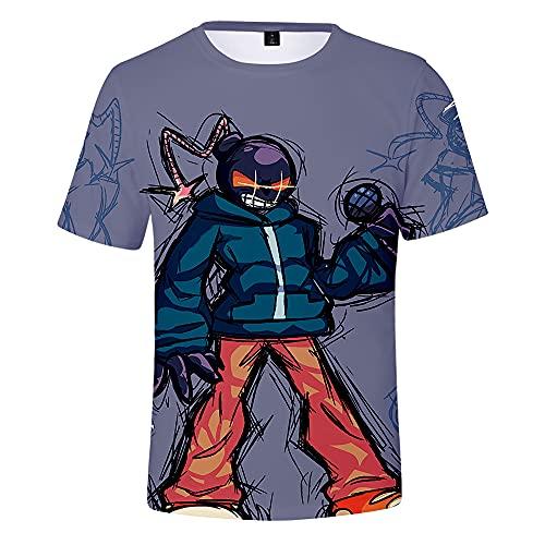 Camiseta FNAF Freddy'S Sister Location 3D Camiseta Divertidas Camisetas de Manga Corta de Anime para Adultos y Adolescentes