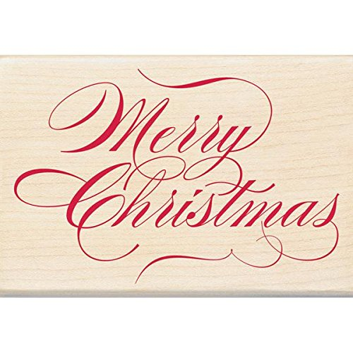 Inkadinkado Wood Stamp, Merry Christmas
