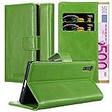 Cadorabo Hülle für Sony Xperia XZ/XZs in Gras GRÜN – Handyhülle mit Magnetverschluss, Standfunktion & Kartenfach – Hülle Cover Schutzhülle Etui Tasche Book Klapp Style