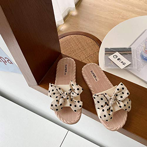 ypyrhh Zapatilla de Plataforma con cuña para Mujer,Fashion Flaw,Zapatos de Playa Antideslizantes de Fondo Suave-Apricot_38,Zapatillas de Estar por Casa de Mujer/Hombre
