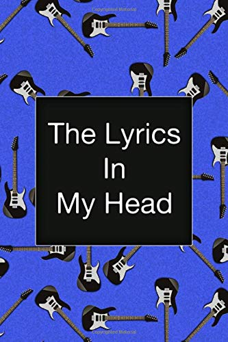 The Lyrics In My Head, Music Songwriting Notebook, Fender Stratocaster, Electric Guitar,...
