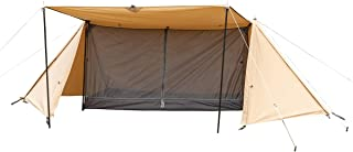 BUNDOK(バンドック) ソロベース BDK-79TC 【1人用】パップ テント 軍幕 収納コンパクト テント 混紡綿 フルクローズ