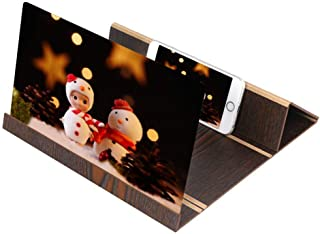 Rubik 3D Mobile Phone Screen Stereoscopic Projection Magnifier amplifying 11 Inch Desktop Wood Bracket Wooden Foldable Pho...