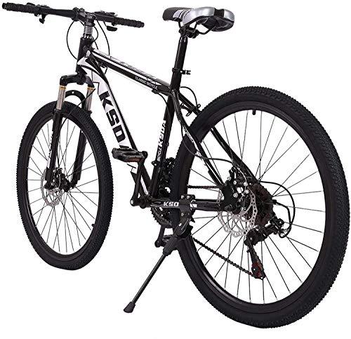 Aluminum Full Mountain Bike, Mountain Bike 26 Inch 21-Speed ??Bicycle, Mens/Womens Hybrid Road Bike Aluminum Full Suspension Road Bike for Men Women