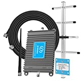 AT&T Cell Phone Signal Booster T-Mobile 4G LTE 700MHz Band 12/17 Home Mobile Signal Repeater Amplifier Antenna Kits for Home and Office, Improves 4G LTE Data Rates, Supports Voice Over LTE (Black)