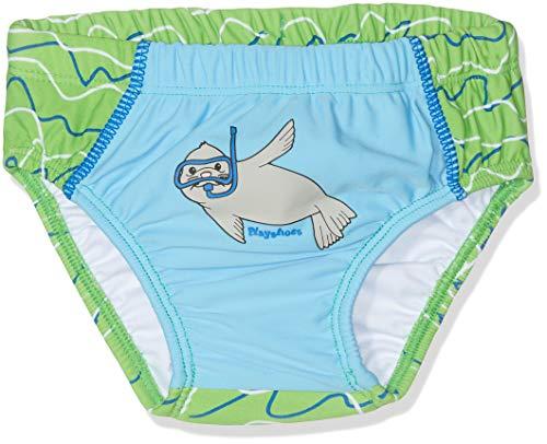 Playshoes Baby-Jungen UV-Schutz Windelhose Robbe Schwimmwindel, Blau (Blau/Grün 791), 86/92
