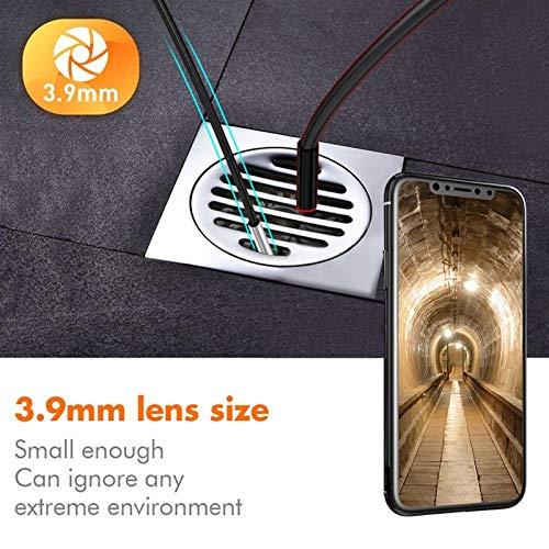 Cámara de inspección de boroscopio 3.9mm 3 en 1 Android endoscopio cámara IP67 a prueba de agua la cámara de la serpiente con 6 Led luces for Samsung for Huawei, LG, for Xiaomi PC para inspección mecá