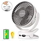 Best Clip Fans - KEYNICE Clip Fan with Night Light, USB Desk Review
