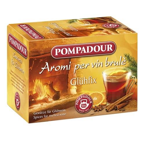 Pompadour 1913 Aromi per Vin Brulè Miscela di Spezie per Infuso Senza Caffeina - 1 x 15 Bustine di Tè (30 Grammi)