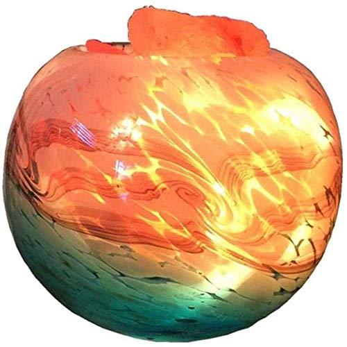 NA Gel Nail Escultura Lámpara de Sal del Himalaya LED Lámpara de Cristal de Sal de mar Profundo Decoración del hogar Atmósfera Lámpara de cabecera [A Energy] Control de Cable USB Luz Blanca
