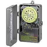 Intermatic R8816P101C Timer, 240V 3Hp Dpst Sprinkler & Irrigation Mechanical Timer W/14-Day Skipper