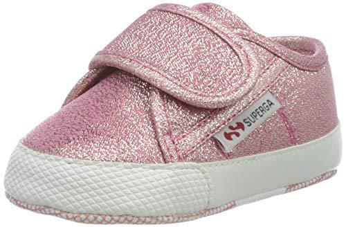 Superga 4006-MICROLAMESTRAPSB, Scarpine neonato Bambina, Rosa (Pink Lip Rose A01), 18 EU