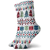 Be-ryl Árbol de Navidad Triangular Calcetines Deportivos Calcetines Tobilleros Calcetines Deportivos Casuales Calcetines de algodón