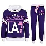 A2Z 4 Kids Enfants Filles Survêtement Los Angeles LA7 Imprimé - T.S LA7 Purple 5-6