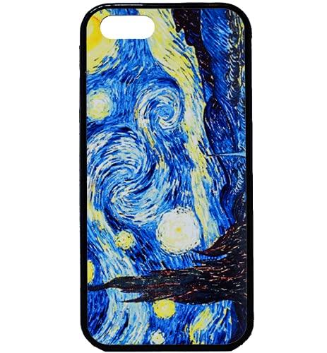 BKstuff Cover Opera d'Arte, Quadri Famosi Stampa HD (iPhone 5 5s SE, Notte Stellata, Van Gogh)