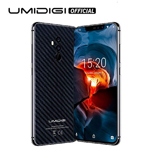 UMIDIGI Z2 Pro 6.2' Full Screen Unlocked Smartphone- 6GB RAM+ 128GB ROM Cellphones - Dual 4G Volte With Global Band -16MP+8MP Dual Camera Unlocked Cell Phone with NFC/15W Wireless Charge(Carbon Fiber)