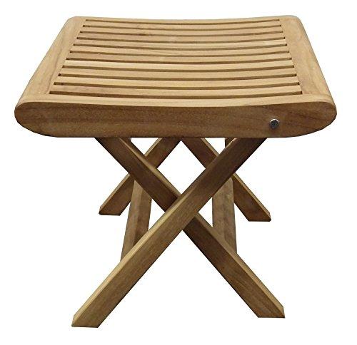 Beho Natürlich gut in Holz Teak Fußhocker 42x42x45 cm Teakholz Selected Kernholz unbehandelt zusammengebaut