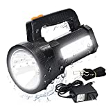 LED Handheld Spotlight Tactical Flashlight, 9600 mAh/11000 Lumens, Rechargeable 3 In 1 Torchlight for Outdoor Camping Hiking, 6 Lights Modes Waterproof Side Floodlight