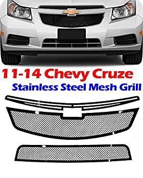 MPH Production 11 12 13 14 Chevy Cruze Metal Stainless Steel Mesh Black Grill Grille