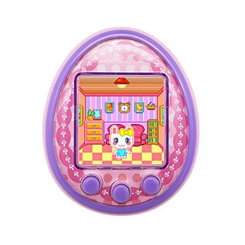 Deng Xuna Nuova Macchina da Gioco Portatile Virtuale per Animali Domestici, Tamagotchi, Giocattolo Educativo Schermo a Colori HD, Giocattoli per Bambini Regalo (Rosa)
