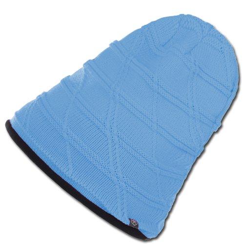 Color Kids Enfants Bonnet de Ski Bonnet d'hiver Bonnet Sevier Bleu