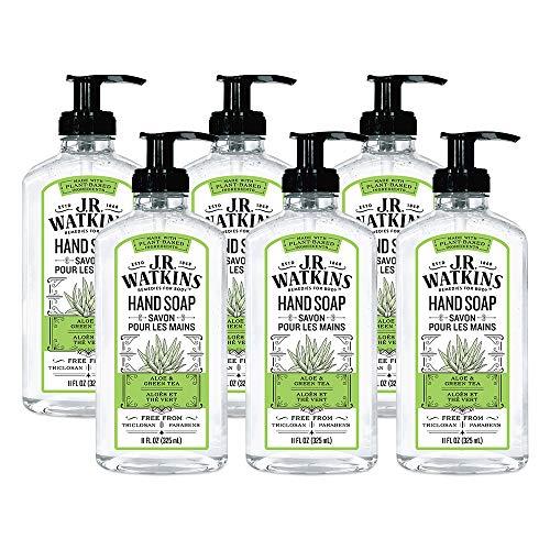 JR Watkins Gel Hand Soap, Aloe & Green Tea, 6...