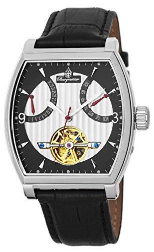 Burgmeister Herren Datum klassisch Automatik Uhr mit Leder Armband BM230-102
