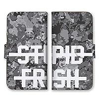 Apple iPhone12 mini 手帳型 スマホ ケース カバー スマホケース スマホカバー アニマル柄 ホワイト文字 FRESH アイフォン12ミニ アイホン12ミニ 21755