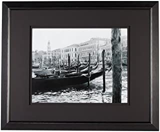 Nielsen Professional 11 by 14-Inch Venice Black Metal Luxury Frame with Double Floating Mat