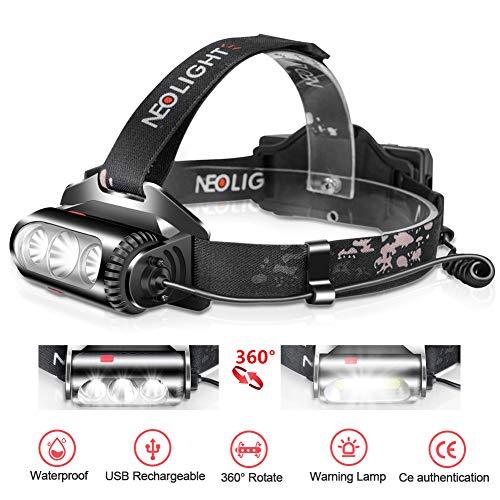 Superhelle LED Stirnlampe mit 8 modi USB Wiederaufladbare Wasserdichter kopflampe 2500 Lumen 300 M Kopfleuchte für Outdoor Camping, Angeln, Autoreparatur, Joggen Sport