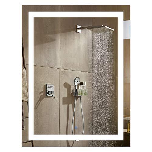 HOMCOM LED Wall Mount Bathroom Vanity Make Up Mirror w/Defogger - 32