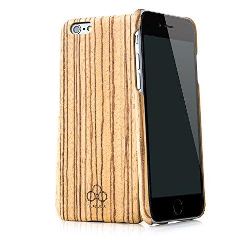 """Cover case in legno """"Arbor"""" per Apple iPhone 6S e iPhone 6 4,7 pollici in vero legno di zebrano e kevlar. Custodia di protezione QUADOCTA estremamente stabile e sottile per Apple iPhone 6/6S originale"""