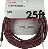Fender Professional 25' Instrument Cable - Red Tweed - 1/4 Inch Straight