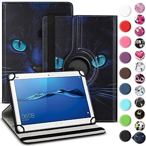 UC-Express Schutzhülle kompatibel für Huawei Mediapad T1 T2 T3 10 Tablet Robuste Universal Tablet Hülle Tasche Standfunktion 360° Drehbar Cover Case, Farben:Motiv 3