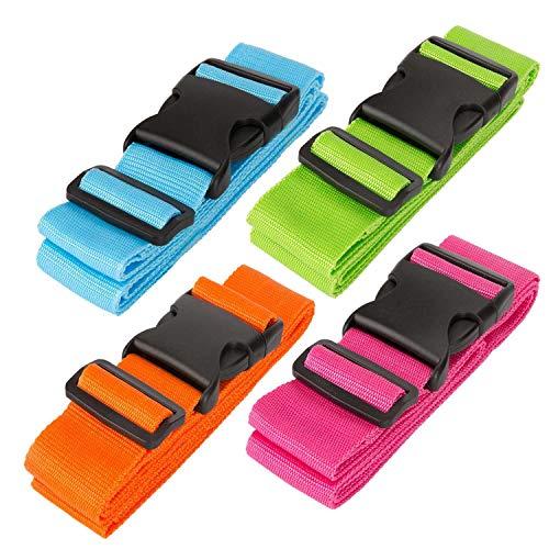 Luxebell da Viaggio Cinghie Bagagli imballaggio Cintura Valigia Cinghie Regolabile Sicurezza 60 x 200cm, 2-Pack