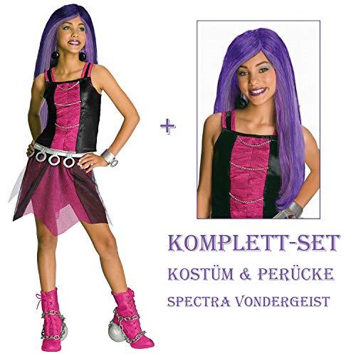 Satief Monster High Kinder Kostüm & Perücke / Spectra Vondergeist (140/146 + Perücke)
