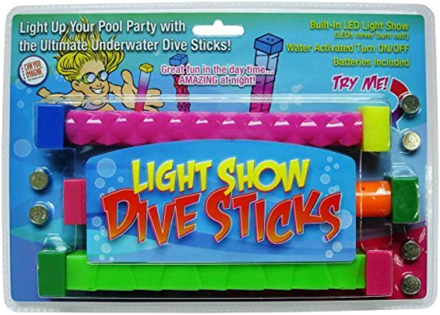 Can You Imagine Light Show Dive Sticks (Set Of 3) by Can You Imagine  Toys, us toys, CANWM