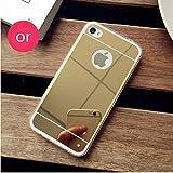 PANXIYUE Coque iPhone 4 / 4S Miroir Silicone TPU Coloris Or Etui Housse Bumper