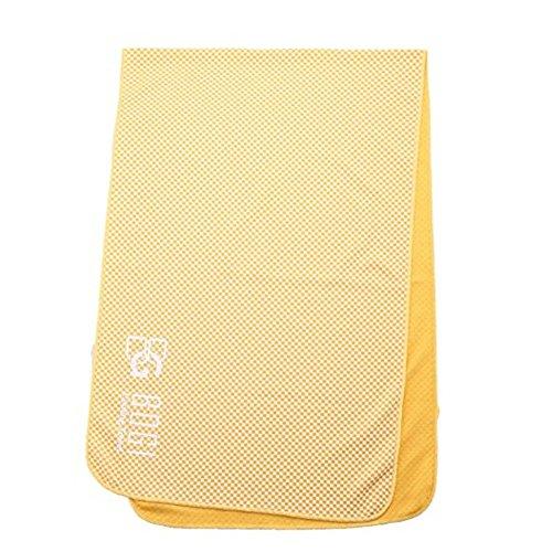 BOGI速冷アイスタオル-100cmx30cm-冷感竹繊維–アイスマフラ、スカーフ、リストバンド、大きなバンダナとして使えるーヨガ、訓練、フィットネス、旅行、登山、ゴルフ、サッカー、テニス運動及び他のアウトドア活動には冷たく保つ(M-オレンジOrange)