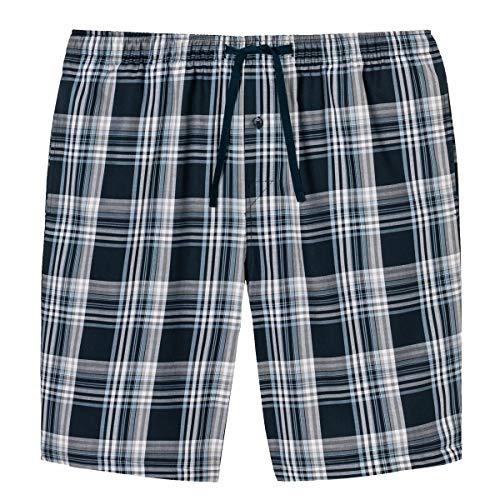 Schiesser Herren Mix & Relax Bermuda Schlafanzughose, Blau (Dunkelblau Gem), X-Large (Herstellergröße: 054)