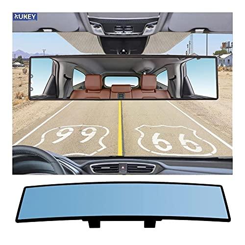 ZJF Anti Glare Retroview Espejo de Gran Angular panorámica Convexo Convexo Convexo retrovisor Coches SUV Camiones 10.6 '' 11.8 '' (Color Name : 300mm)