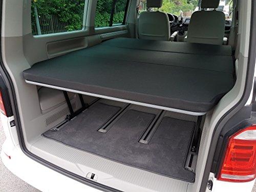 VW T5 T6 Multiflexboard sängpaket, + gångjärn + madrass RG50/50