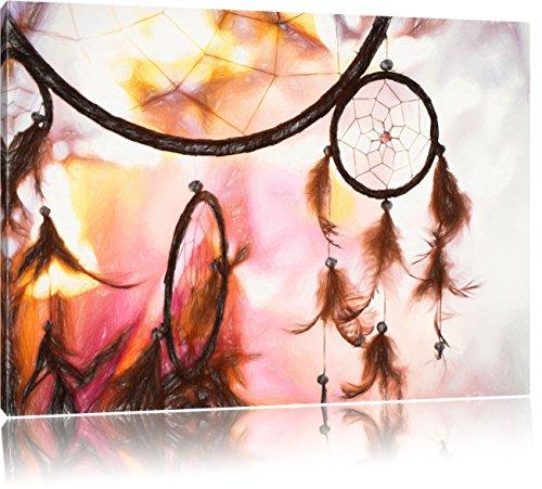 Pixxprint Traumfänger als Leinwandbild | Größe: 120x80 cm | Wandbild| Kunstdruck | fertig bespannt