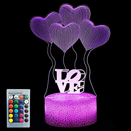 Luz nocturna de unicornio para niños, lámpara de unicornio con ilusión óptica de 7 colores para mesa táctil, lámpara visual de escritorio con mando a distancia para regalos, juguetes para niños