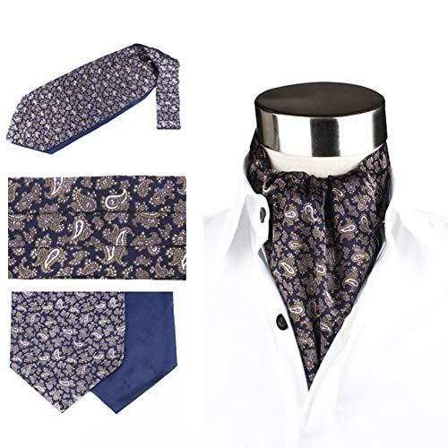 LIXIONG Seide Halstuch Schal Krawattenschal Männer Doppelseitiger Druck Shirt Schal Die Seide Weich Atmungsaktiv, 7 Stile (Farbe : B)